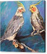 Coctaiel Parrots Canvas Print