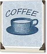 Coffee 1-2 Scrapbook Canvas Print
