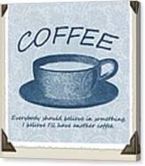 Coffee 1 Scrapbook Canvas Print
