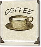 Coffee 3-2 Scrapbook Canvas Print