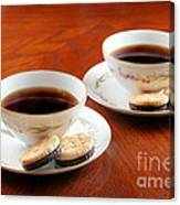 Coffee And Cookies Canvas Print