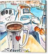 Coffee Break In Heraklion In Crete Canvas Print