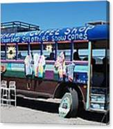 Coffee Bus Canvas Print