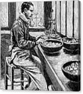 Coin Production, 19th Century Canvas Print