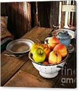 Colander Of Fruit Canvas Print