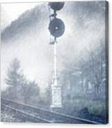 Cold And Foggy Canvas Print
