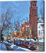 Cold Morning In Elmwood Ave  Canvas Print