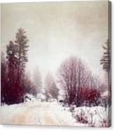 Cold Road Canvas Print