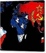 Cold War Map Canvas Print