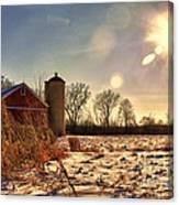 Cold Winter Barn Canvas Print