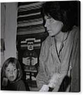 Colette With Mamma Chris In Their Ice Kiosk In Denmark At The Time  Canvas Print