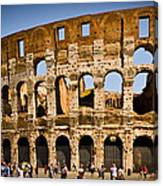 Coliseum Facade Canvas Print