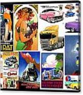 Collage Of Toons 1 Canvas Print