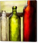 Collector - Bottles - Still Life Of Three Bottles  Canvas Print