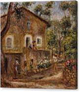 Collette's House At Cagne Canvas Print