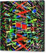 Colliding Dimensions Canvas Print