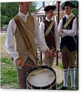 Colonial Drummer Canvas Print