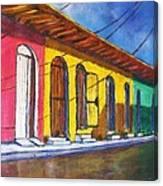 Colonial Homes Granada Nicaragua Canvas Print