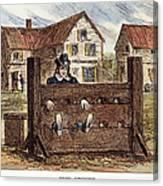 Colonial Stocks Canvas Print