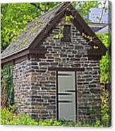 Colonial Stone Ice House Canvas Print
