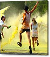 Color Run Happy Canvas Print