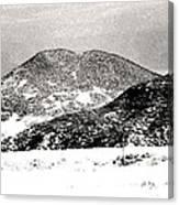 Colorado 2 In Black And White Canvas Print