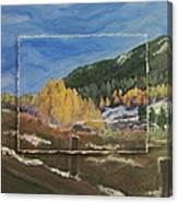 Colorado Almost Winter Canvas Print