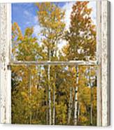 Colorado Autumn Aspens Picture Window View Canvas Print