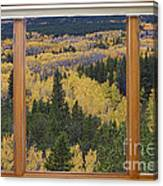 Colorado Autumn Picture Window Frame Art Photos Canvas Print
