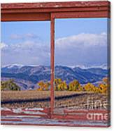 Colorado Country Red Rustic Picture Window Frame Photo Art Canvas Print