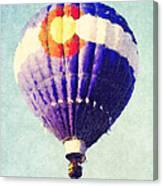 Colorado Flag Hot Air Balloon Canvas Print
