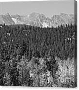 Colorado Rocky Mountain Continental Divide View Bw Canvas Print