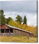 Colorado Rustic Autumn High Country Barn Canvas Print