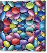 Colored Beans Design Canvas Print