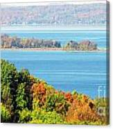 Colored Peninsula  Canvas Print