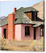 Colorful Abandoned Home In Dying Farm Town Canvas Print