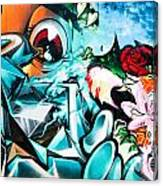 Colorful Abstract Graffiti Wall Canvas Print