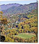 Colorful Autumn Valley Canvas Print
