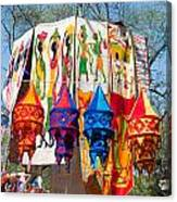 Colorful Banners At Surajkund Mela Canvas Print