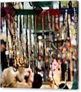 Colorful Beads At The Surajkund Mela Canvas Print