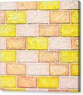Colorful Brick Wall Canvas Print
