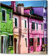 Colorful Burano Italy Canvas Print