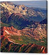 Colorful Colorado Rocky Mountains Planet Art Canvas Print