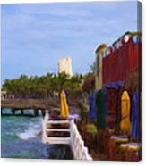 Colorful Cozumel Cafe Canvas Print
