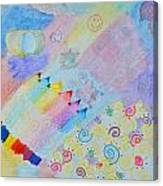 Colorful Doodling Original Art Canvas Print