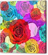 Colorful Floral Design  Canvas Print