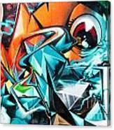 Colorful Graffiti Fragment Canvas Print