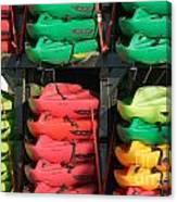 Colorful Kayaks Canvas Print