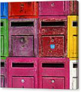 Colorful Mailboxes Canvas Print