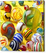 Colorful Marbles Two Canvas Print